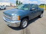2012 Blue Granite Metallic Chevrolet Silverado 1500 LS Extended Cab 4x4 #68772189