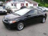 2007 Nighthawk Black Pearl Honda Civic LX Coupe #68772414