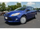 2012 Blue Candy Metallic Ford Focus SE SFE Sedan #68772131