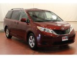 2012 Salsa Red Pearl Toyota Sienna LE #68772335