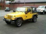 2004 Jeep Wrangler Solar Yellow