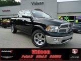2012 Black Dodge Ram 1500 Laramie Crew Cab 4x4 #68830287