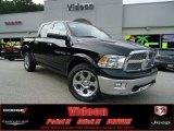 2012 Black Dodge Ram 1500 Laramie Crew Cab 4x4 #68830286