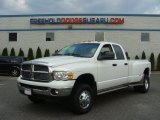 2004 Bright White Dodge Ram 3500 Laramie Quad Cab 4x4 Dually #68830251