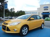 2012 Yellow Blaze Tricoat Metallic Ford Focus SE Sport Sedan #68829551