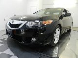 2010 Crystal Black Pearl Acura TSX V6 Sedan #68830239