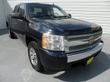 2008 Dark Blue Metallic Chevrolet Silverado 1500 LS Extended Cab #68829772