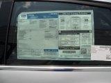 2012 Ford Focus Titanium Sedan Window Sticker
