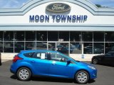 2012 Blue Candy Metallic Ford Focus SE 5-Door #68829725