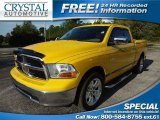 2009 Detonator Yellow Dodge Ram 1500 SLT Quad Cab #68830011