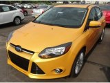 2012 Yellow Blaze Tricoat Metallic Ford Focus Titanium Sedan #68829959