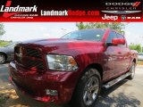 2011 Deep Cherry Red Crystal Pearl Dodge Ram 1500 Sport Crew Cab #68829636