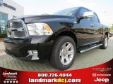 2012 Black Dodge Ram 1500 Laramie Limited Crew Cab #68829635