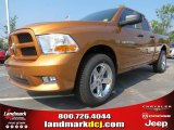 2012 Tequila Sunrise Pearl Dodge Ram 1500 Express Quad Cab #68829633