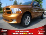 2012 Tequila Sunrise Pearl Dodge Ram 1500 Express Quad Cab #68829632