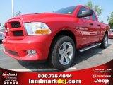 2012 Flame Red Dodge Ram 1500 Express Quad Cab #68829631