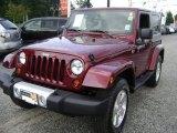 2010 Red Rock Crystal Pearl Jeep Wrangler Sahara 4x4 #68889439