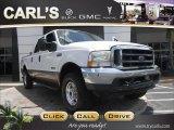 2003 Oxford White Ford F250 Super Duty Lariat Crew Cab 4x4 #68889400