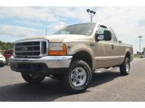 2000 Harvest Gold Metallic Ford F250 Super Duty Lariat Extended Cab 4x4 #68890067