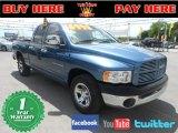 2002 Atlantic Blue Pearl Dodge Ram 1500 ST Quad Cab #68954212