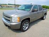 2008 Graystone Metallic Chevrolet Silverado 1500 LS Crew Cab 4x4 #68954199