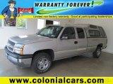 2004 Silver Birch Metallic Chevrolet Silverado 1500 LS Extended Cab 4x4 #68983760