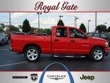 2006 Flame Red Dodge Ram 1500 SLT Quad Cab #68983725