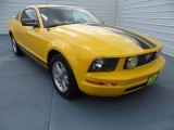2006 Screaming Yellow Ford Mustang V6 Deluxe Coupe #68988132
