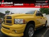 2005 Solar Yellow Dodge Ram 1500 Laramie Quad Cab 4x4 #68988096