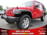 2012 Flame Red Jeep Wrangler Unlimited Sport 4x4 #68988062