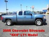2008 Blue Granite Metallic Chevrolet Silverado 1500 LT Extended Cab 4x4 #68988417