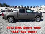 2013 Mocha Steel Metallic GMC Sierra 1500 SLE Crew Cab 4x4 #68988409