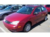 2005 Sangria Red Metallic Ford Focus ZX3 SE Coupe #68988021