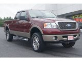 2006 Dark Toreador Red Metallic Ford F150 Lariat SuperCab 4x4 #69028650