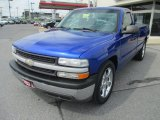 2001 Indigo Blue Metallic Chevrolet Silverado 1500 LS Regular Cab #69028947