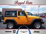 2012 Dozer Yellow Jeep Wrangler Sport 4x4 #69029228