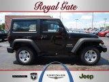 2012 Black Jeep Wrangler Sport 4x4 #69028510