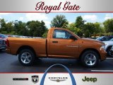 2012 Tequila Sunrise Pearl Dodge Ram 1500 Express Regular Cab 4x4 #69028505