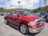 2010 Inferno Red Crystal Pearl Dodge Ram 1500 Big Horn Quad Cab 4x4 #69029111