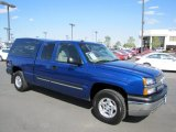 2004 Arrival Blue Metallic Chevrolet Silverado 1500 LS Extended Cab 4x4 #69094233