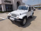 2012 Bright White Jeep Wrangler Sahara 4x4 #69094211