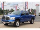 2007 Electric Blue Pearl Dodge Ram 1500 Big Horn Edition Quad Cab 4x4 #69094466