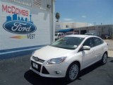 2012 White Platinum Tricoat Metallic Ford Focus SEL Sedan #69093885