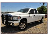 2008 Bright White Dodge Ram 3500 Lone Star Quad Cab 4x4 #69094130