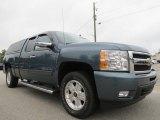2009 Blue Granite Metallic Chevrolet Silverado 1500 LTZ Crew Cab #69094121