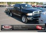 2005 Black Dodge Ram 1500 Laramie Quad Cab 4x4 #69093717