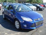 2012 Sonic Blue Metallic Ford Focus SE Sedan #69093968