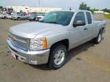 2013 Silver Ice Metallic Chevrolet Silverado 1500 LT Extended Cab 4x4 #69150298