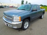 2013 Blue Granite Metallic Chevrolet Silverado 1500 LT Extended Cab #69150296