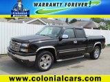 2007 Black Chevrolet Silverado 1500 Classic Extended Cab 4x4 #69150584